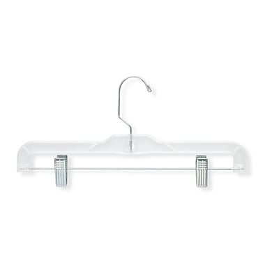 Honey Can Do® Plastic Skirt and Pant Hanger, Chrome Hook