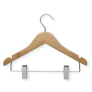 Honey Can Do® Kid's Wooden Hanger With Clips