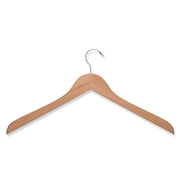Honey Can Do® Cedar Wood Top Hanger, Chrome Hook