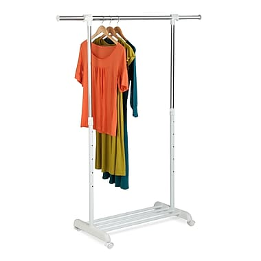 Honey Can Do® 34in. to 53in. Expandable Garment Rack, White