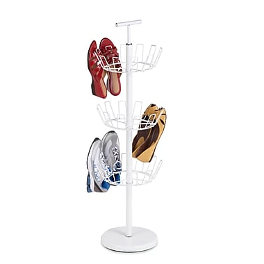 Honey Can Do® 3Tier Revolving Shoe Tree, White