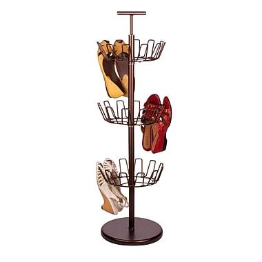 Honey Can Do® 3Tier Revolving Shoe Trees, Bronze or White