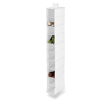Honey Can Do® 10 Shelf Hanging Vertical Closet Organizer, White