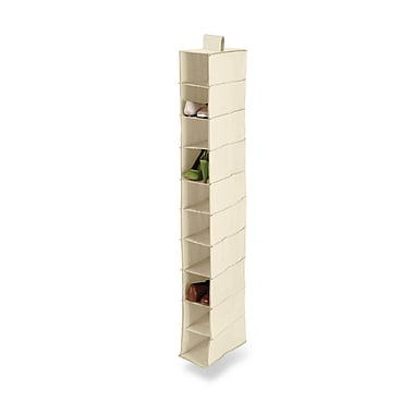 Honey Can Do® 10-Shelf Hanging Vertical Closet Organizer, Natural