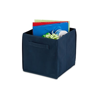 Honey Can Do® Non Woven Foldable Cube, Navy