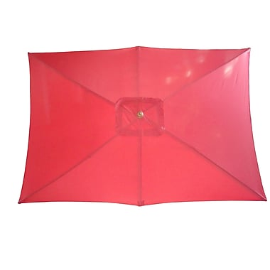 International Concepts Stee/Fabric Rectangular Market Umbrellas