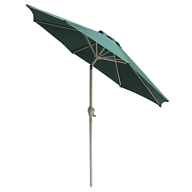 International Concepts Steel/Fabric 9' Tilt Market Umbrella, Hunter Green