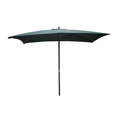International Concepts Stee/Fabric Rectangular Market Umbrella, Hunter Green