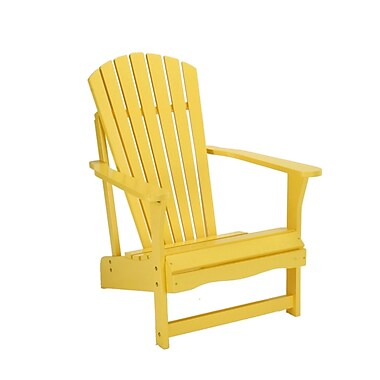 International Concepts Solid Acacia Wood Adirondack Chair, Yellow