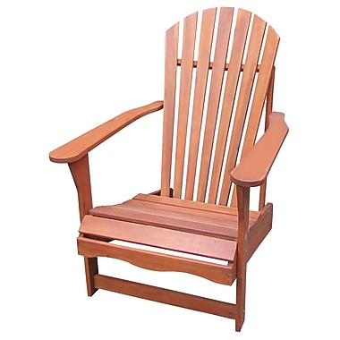 International Concepts Acacia Wood Adirondack Chair, Oiled