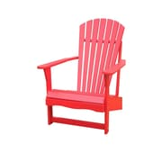International Concepts Solid Acacia Wood Adirondack Chair, Red