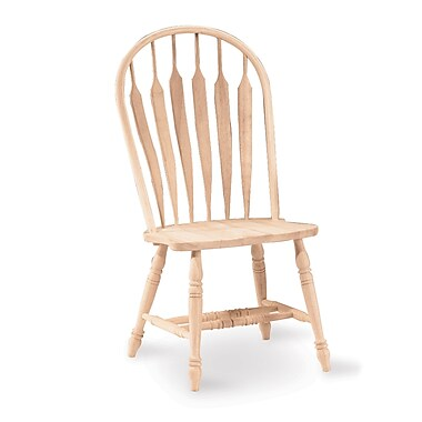 International Concepts Parawood Deluxe Windsor Steambent Arrowback Chair, Unfinished