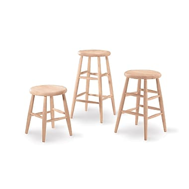 International Concepts 18in. Parawood Scooped Seat Stool, Unfinished