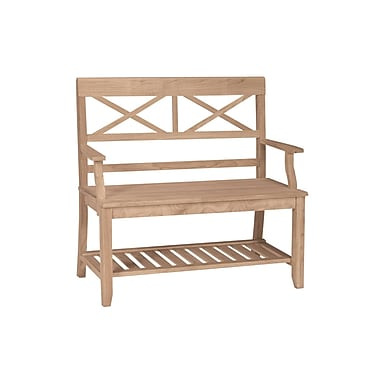 International Concepts Parawood Double X-Back Bench, Unfinished