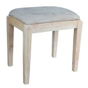 International Concepts Solid Parawood Vanity Bench, Unfinished