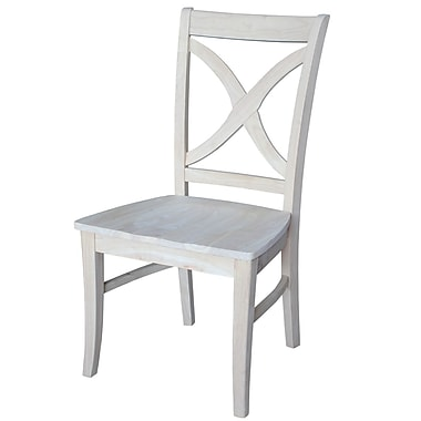 International Concepts Parawood Vineyard Curved X Back Chair, Unfinished