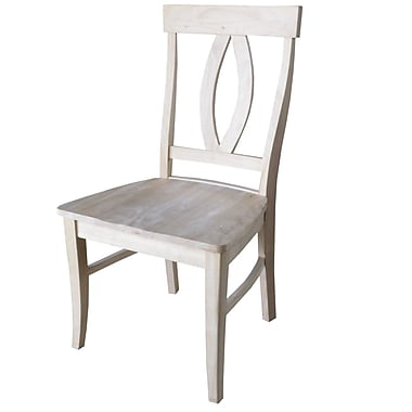 International Concepts Parawood Verona Chair, Unfinished