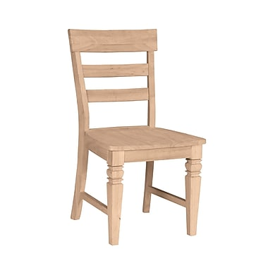 International Concepts Parawood Java Chair, Unfinished