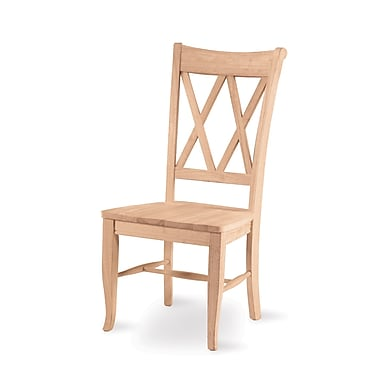 International Concepts Parawood Double X-Back Chair, Unfinished