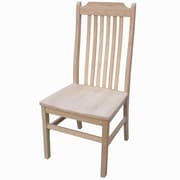 International Concepts Parawood Tall Mission Chair, Unfinished
