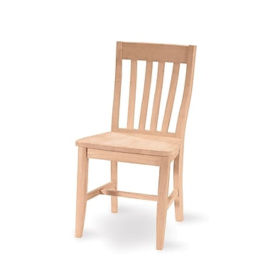 International Concepts Solid Parawood Cafe Chair, Unfinished