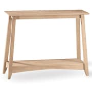 "International Concepts 30"" x 38"" x 12"" Wood Bombay Console Table, Unfinished"