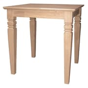 "International Concepts 25"" x 24"" x 22"" Wood Java End Table, Unfinished"