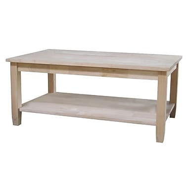 Whitewood Industries Solano Wood Coffee Table, Unfinished, Each (OT-6C)