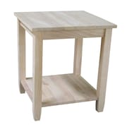 International Concepts 25 X 22 X 22 Wood Solano End Table, Unfinished