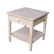 """International Concepts 25"""" x 24"""" x 24"""" Wood Spencer End Table, Unfinished"""