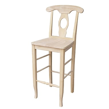 International Concepts 46 1/4in. Parawood Empire Stool, Unfinished