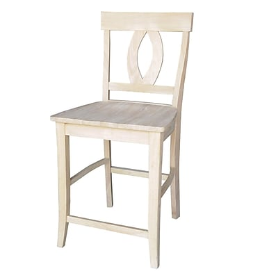 """""International Concepts 24"""""""" Parawood Verona Stool, Unfinished"""""" 229293"