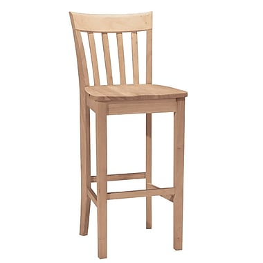 International Concepts 30in. Parawood Slatback Stool, Unfinished