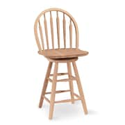 International Concepts 24 Parawood Arrowback Windsor Stool, Unfinished