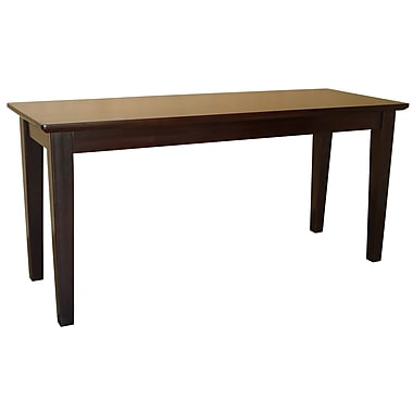 International Concepts Parawood Shaker Styled Bench, Rich Mocha