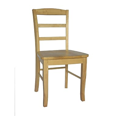 International Concepts Wood Madrid Ladderback Chair, Natural