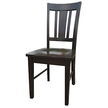 International Concepts Wood San Remo Slatback Chair, Rich Mocha