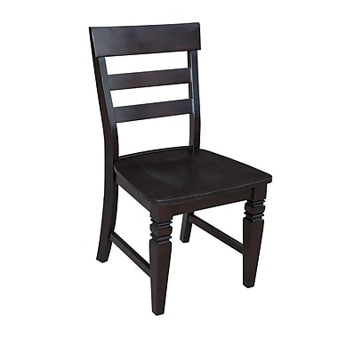 International Concepts Wood Java Ladderback Chair, Rich Mocha