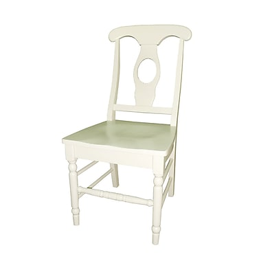 International Concepts Solid Wood Empire Chair, Linen White