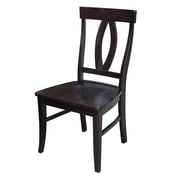 International Concepts Wood Cosmo Verona Chair, Dark Walnut