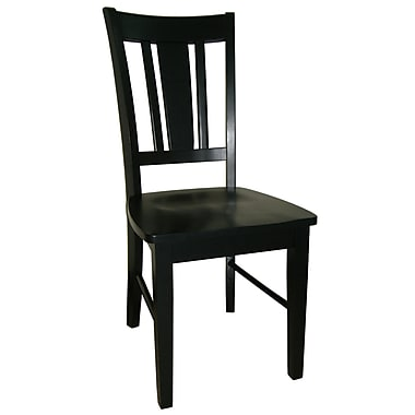 International Concepts Wood San Remo Slatback Chair, Black