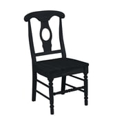 International Concepts Solid Wood Empire Chair, Black