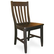 International Concepts Wood Schoolhouse Cafe Chair, Black