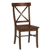 International Concepts Solid Wood X-Back Chair, Cottage Oak