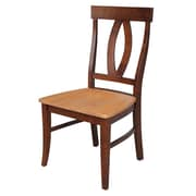 International Concepts Wood Cosmo Verona Chair, Espresso/Cherry