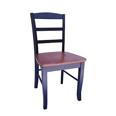International Concepts Wood Madrid Ladderback Chair, Black/Cherry