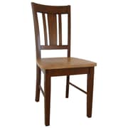 International Concepts Wood San Remo Slatback Chair, Cinnamon/Espresso
