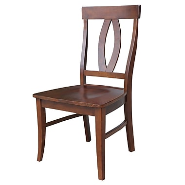 International Concepts Wood Cosmo Verona Chair, Espresso