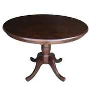 International Concepts 30 X 36 Solid Wood Round Top Pedestal Table, Rich Mocha
