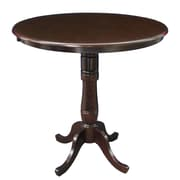 International Concepts 42 X 36 Solid Wood Round Top Pedestal Table, Rich Mocha